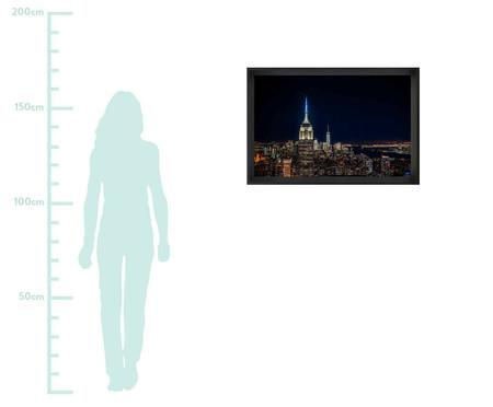 Quadro com Vidro Noite New York   WestwingNow