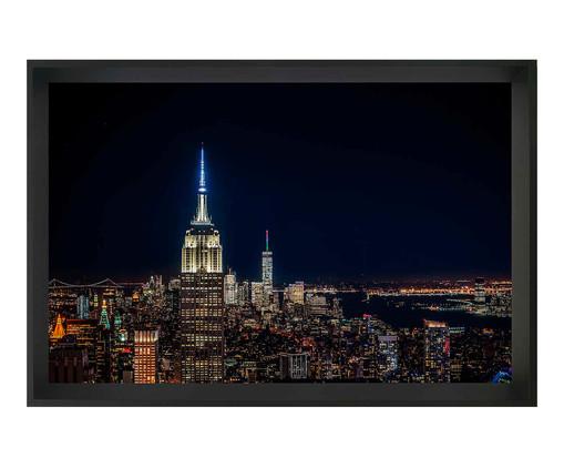 Quadro com Vidro Noite New York, Preto | WestwingNow