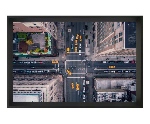 Quadro com Vidro New York street, Preto | WestwingNow