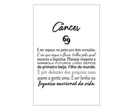 Placa signos Câncer | WestwingNow