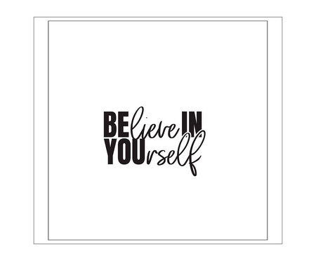 Placa believe in yourself l | WestwingNow