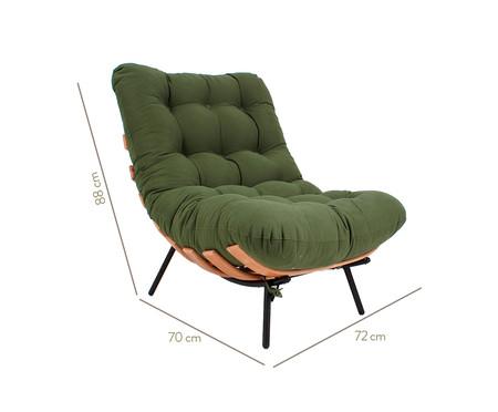 Poltrona Costela com Massageador - Verde Musgo e Preto | WestwingNow