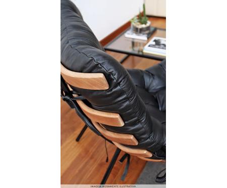 Poltrona Costela com Massageador e Pufe - Verde Musgo e Preta | WestwingNow
