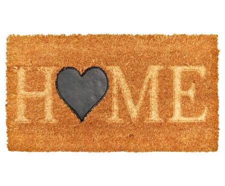 Tapete Capacho Fibra de Coco Ruby Home Coração - Bege | WestwingNow