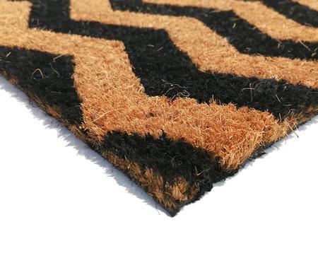 Tapete Capacho de Fibra de Coco Chevron Osmarini - Bege e Preto | WestwingNow