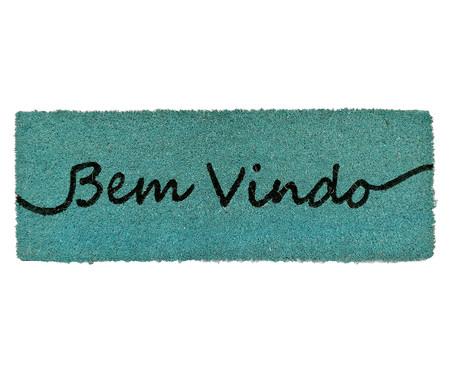 Tapete Capacho em Fibra de Coco Bem-Vindo - Azul | WestwingNow