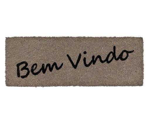 Tapete Capacho de Fibra de Coco Bem Vindo Slim - Bege e Preto, Cinza | WestwingNow