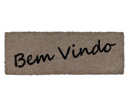 Tapete Capacho de Fibra de Coco Bem Vindo Slim - Bege e Preto | WestwingNow