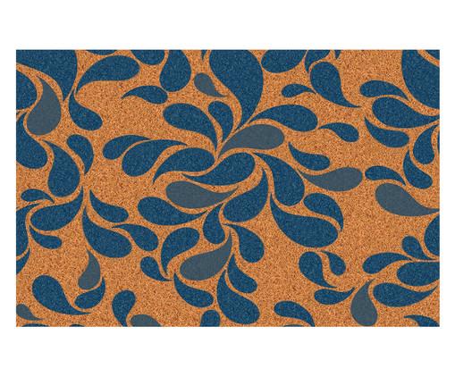 Tapete Capacho Nini - Bege e Azul, Azul e Natural | WestwingNow