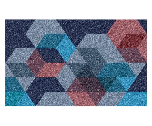 Tapete Capacho Geométrico Gnini - Colorido, Azul e Rosa | WestwingNow