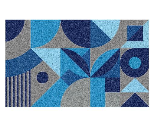 Tapete Capacho Geométrico Ardengo - Azul, Azul | WestwingNow