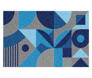 Tapete Capacho Geométrico Ardengo - Azul | WestwingNow