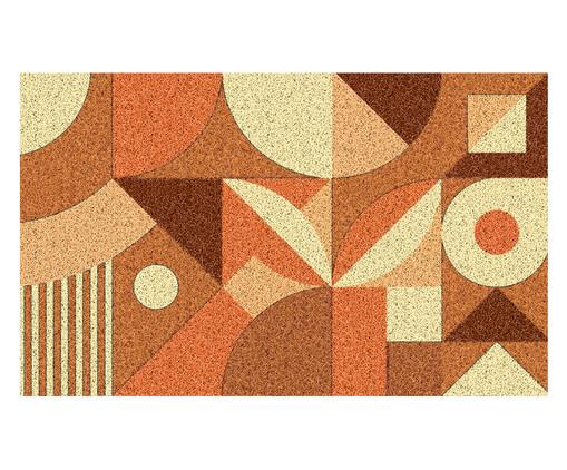 Tapete Capacho Emborrachado Geométrico Ardengo - Colorido, Laranja | WestwingNow