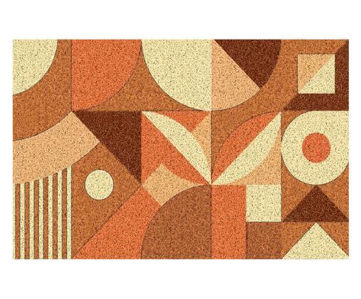 Tapete Capacho Geométrico Ardengo - Colorido, Laranja | WestwingNow