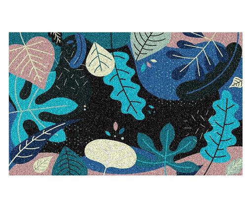Tapete Capacho Emborrachado Tropical Freitas - Colorido, Azul | WestwingNow