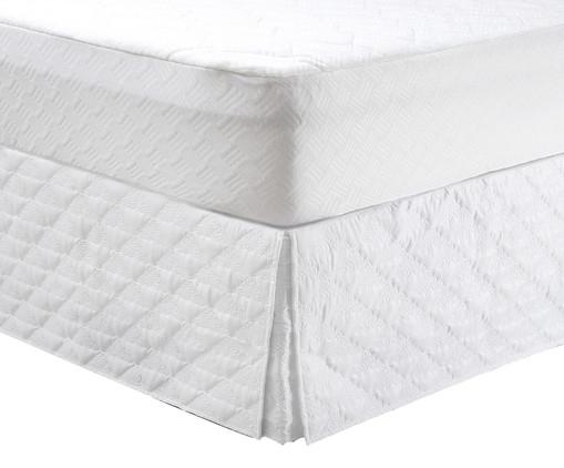 Saia para Cama Box Diamond - Branca, Branco | WestwingNow