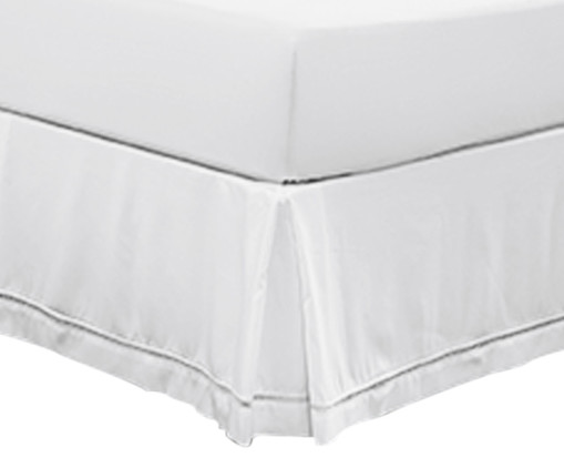 Saia para Cama Box Palito - Branca, Branco | WestwingNow