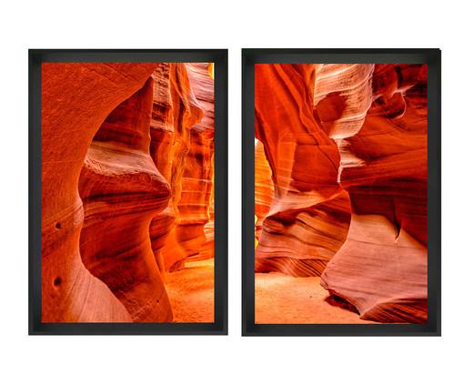 Jogo de Quadros com Vidro Canyon, Preto | WestwingNow