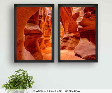 Jogo de Quadros com Vidro Canyon | WestwingNow