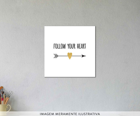 Placa follow your heart | WestwingNow