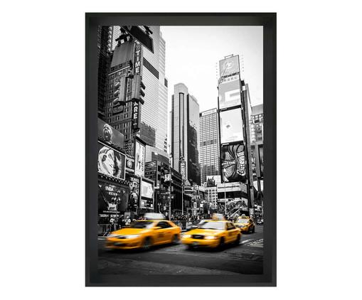Quadro com Vidro Times Square NY l, Preto | WestwingNow