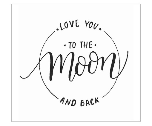 Placa love you to the moon and back, Madeira Natural | WestwingNow