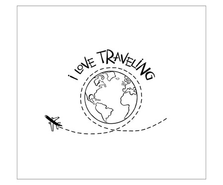 Placa i love traveling | WestwingNow
