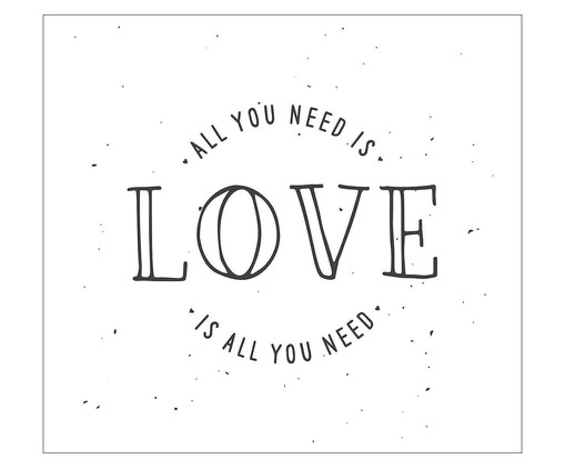 Placa all you need is love, Madeira Natural | WestwingNow