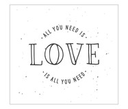Placa all you need is love | WestwingNow