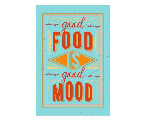 Placa good food is good mood, Madeira Natural   WestwingNow