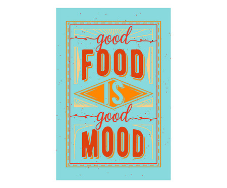 Placa good food is good mood | WestwingNow