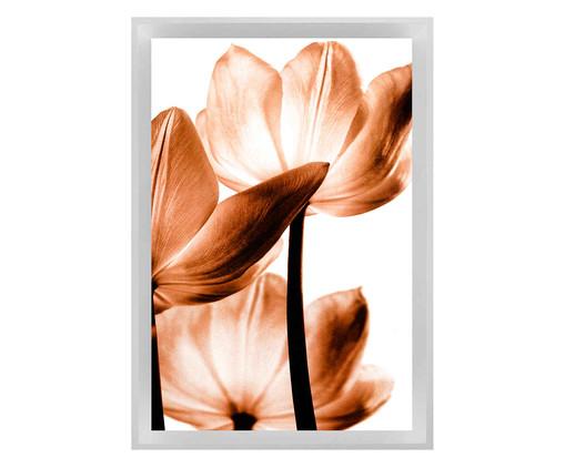Quadro com Vidro Flor Sépia, Branco | WestwingNow