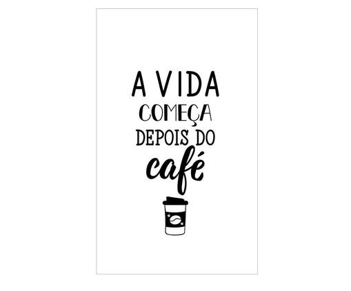 Placa a vida só começa depois do café, Madeira Natural | WestwingNow