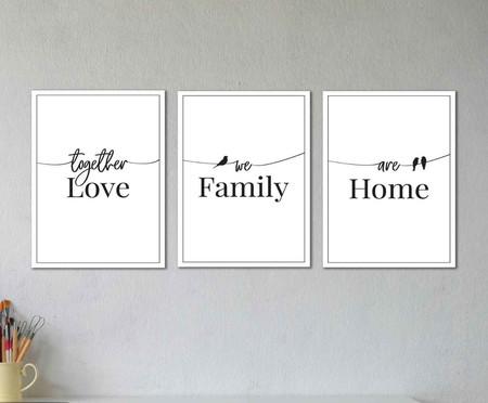 Jogo de placas Love Family Home | WestwingNow