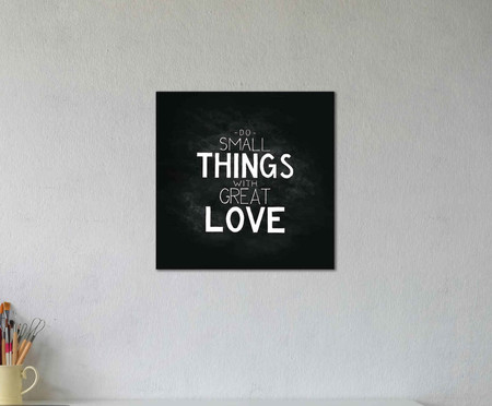 Placa do small things with great love | WestwingNow