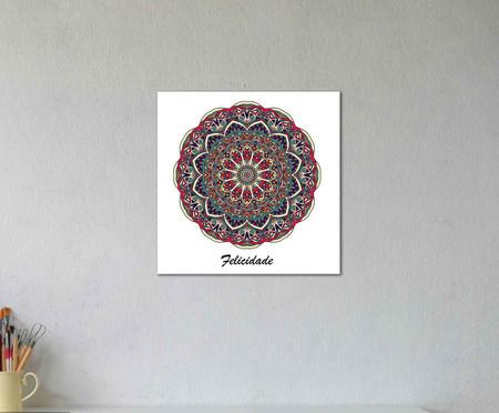 Placa Mandala Felicidade   WestwingNow