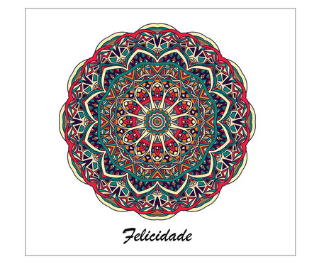Placa Mandala Felicidade | WestwingNow