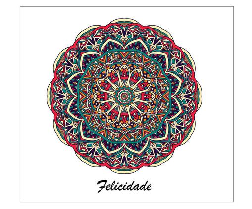 Placa Mandala Felicidade, Madeira Natural | WestwingNow