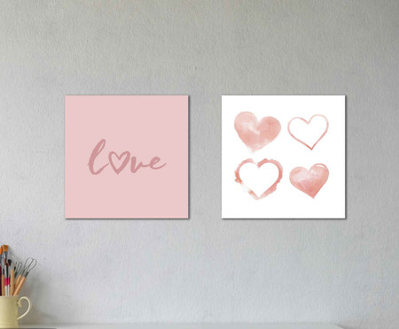 Jogo de placas Love Adele | WestwingNow