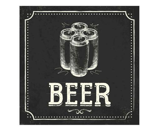 Placa beer e latas, Madeira Natural | WestwingNow