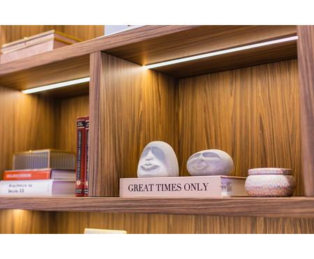 Escultura Cimento Face Brian - Cinza | WestwingNow