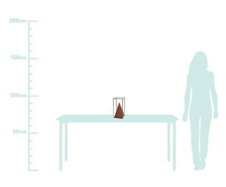 Adorno Pirâmide Hilda Ferro - Acobreado e Preto | WestwingNow