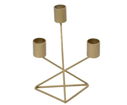 Candelabro Decorativo de Ferro Denise Tri - Dourado, Dourado | WestwingNow
