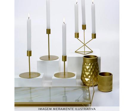 Candelabro Decorativo de Ferro Denise Tri - Dourado | WestwingNow