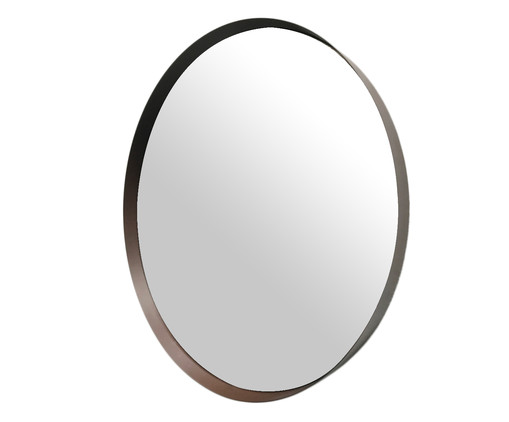 Espelho Round Eggie - Marrom, Prata   WestwingNow