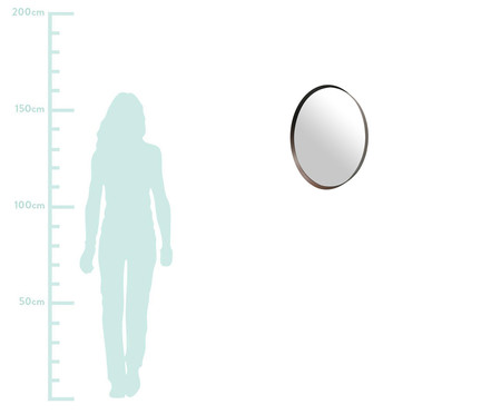 Espelho Round Eggie - Marrom | WestwingNow