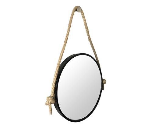 Espelho com Alça Adnet Rope Aly - Preto, Prata | WestwingNow