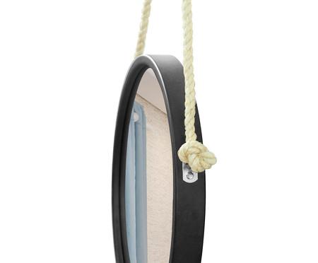 Espelho com Alça Adnet Rope Aly - Preto | WestwingNow