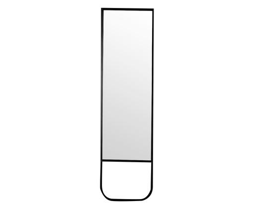 Espelho de Chão Curve - Preto Fosco, Prata | WestwingNow