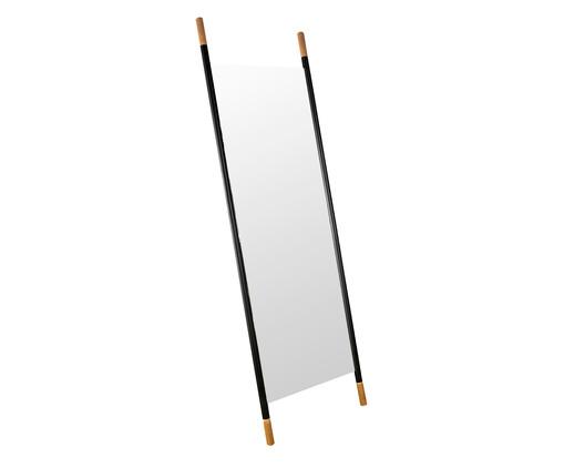 Espelho de Chão Wood Preto - Preto Fosco, Preto   WestwingNow